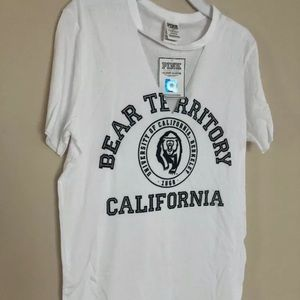 PINK university of California Berkeley Tee NCAA XS
